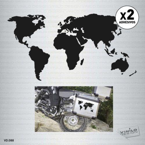 Detalles De 2 X Vinilo Adhesivo Mapa Mundo Moto World Map Pegatina