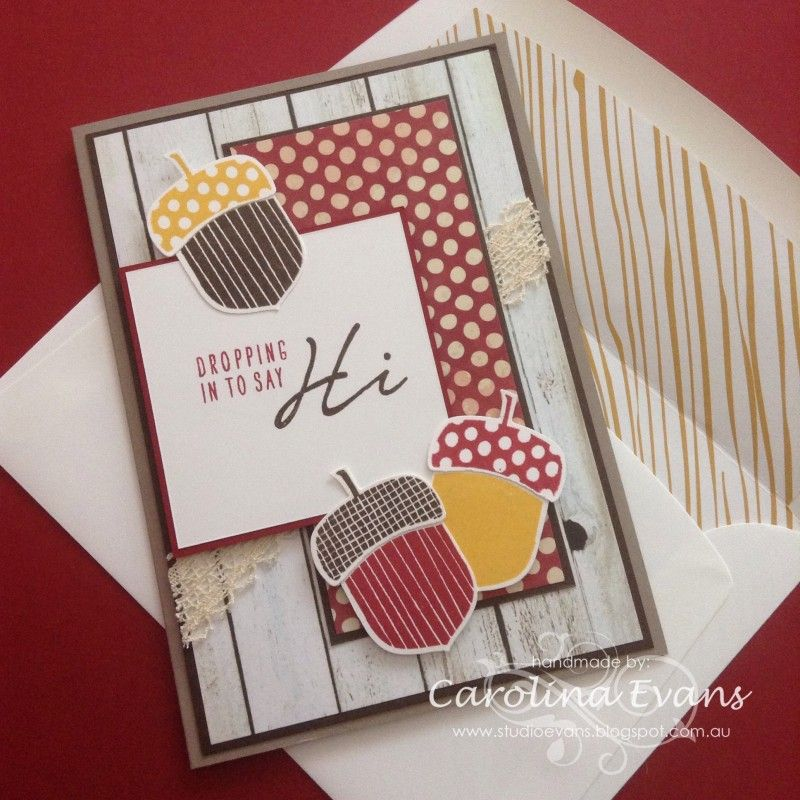 Acorny Thank You - Hi Card Acorny Thank You Stampin Up Pinterest - tarjetas creativas