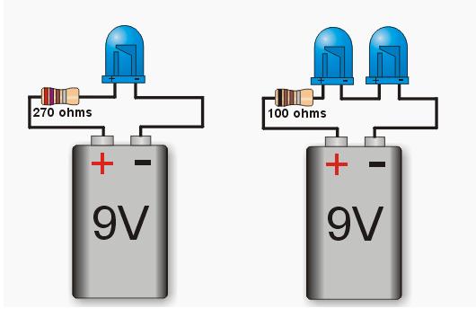 Led Untuk Tegangan 9v Pembelajaran Online Guru Elektronik Rangkaian Elektronik Led Elektronik