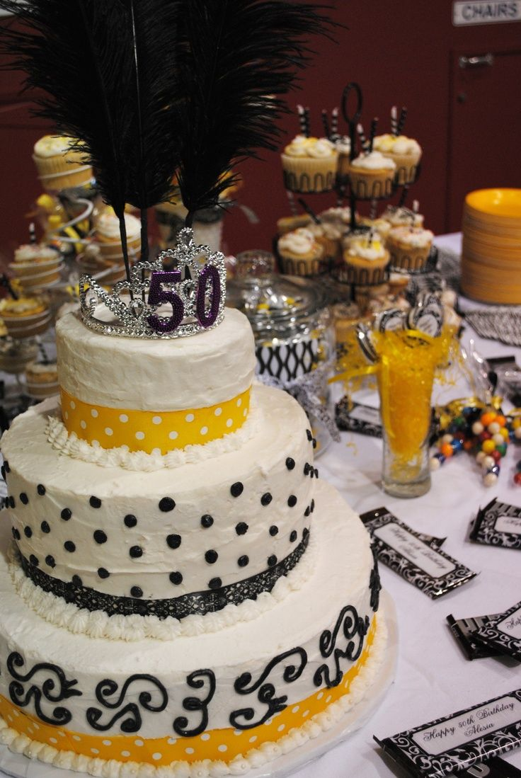 Elegant Cake 50 Birthday Party Ideas Decorations For My