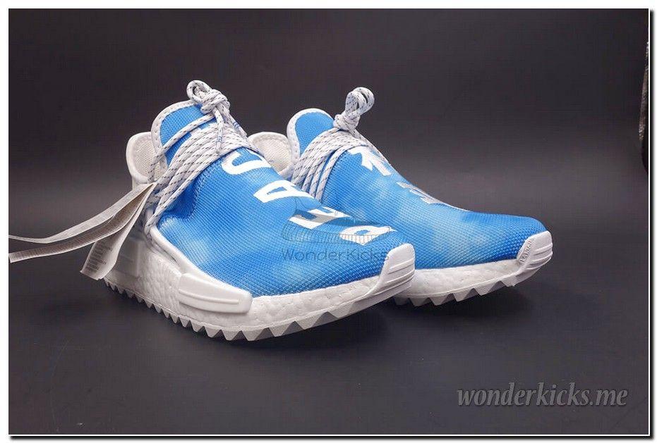 b18f6ec3eea5a Pharrell x Adidas NMD Human Race China Pack Peace Blue White F99763  adidas   f99763  nmd