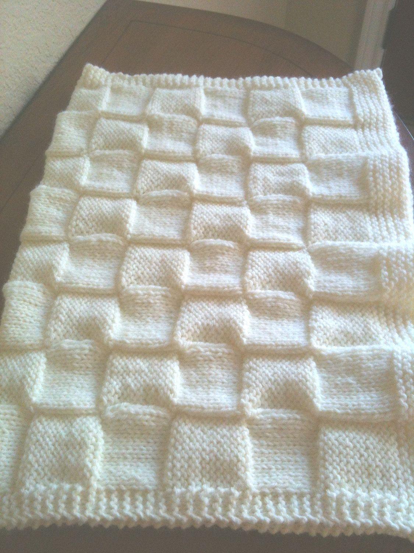 Soft Hand Knitted Baby Blanket. $20.00, via Etsy. | Crochet, knit ...