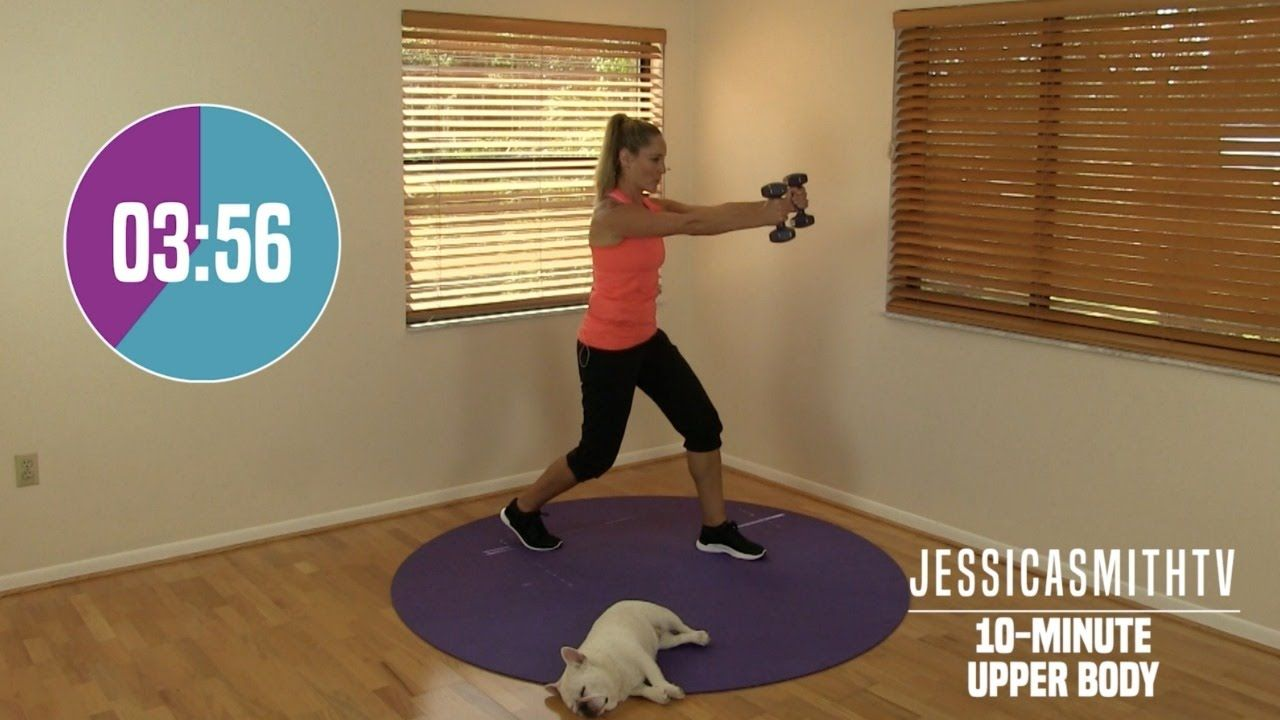 10 Minute Upper Body Workout - At Home Strength Training With Dumbbells (With images