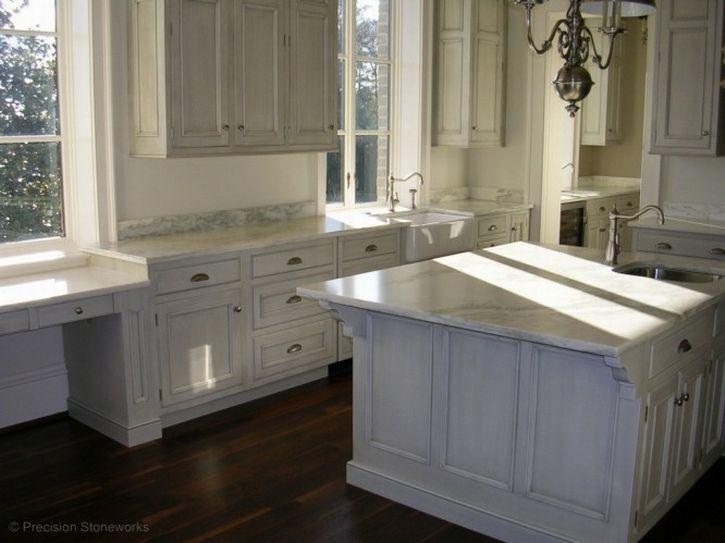 Chic Atlanta Granite Kitchen Countertops In White Made Of The Granite Marble  And Fram Sink Detail, Modern White Granite Countertop Kitchens Offering  Stylish ...