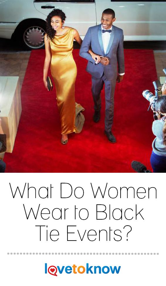What Do Women Wear To Black Tie Events Black Tie Dress