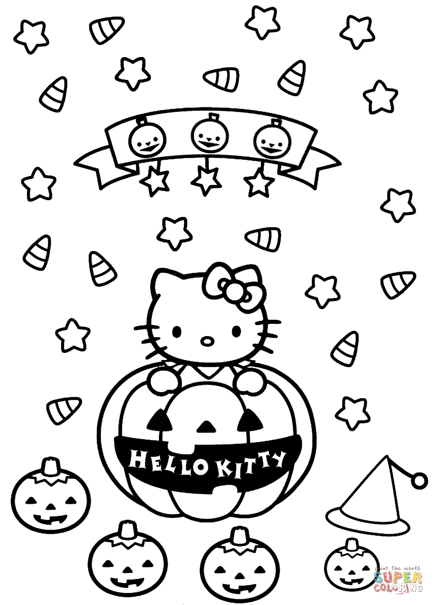 Colouring Pages Hello Kitty Colouring Pages Hello Kitty Coloring Hello Kitty Halloween