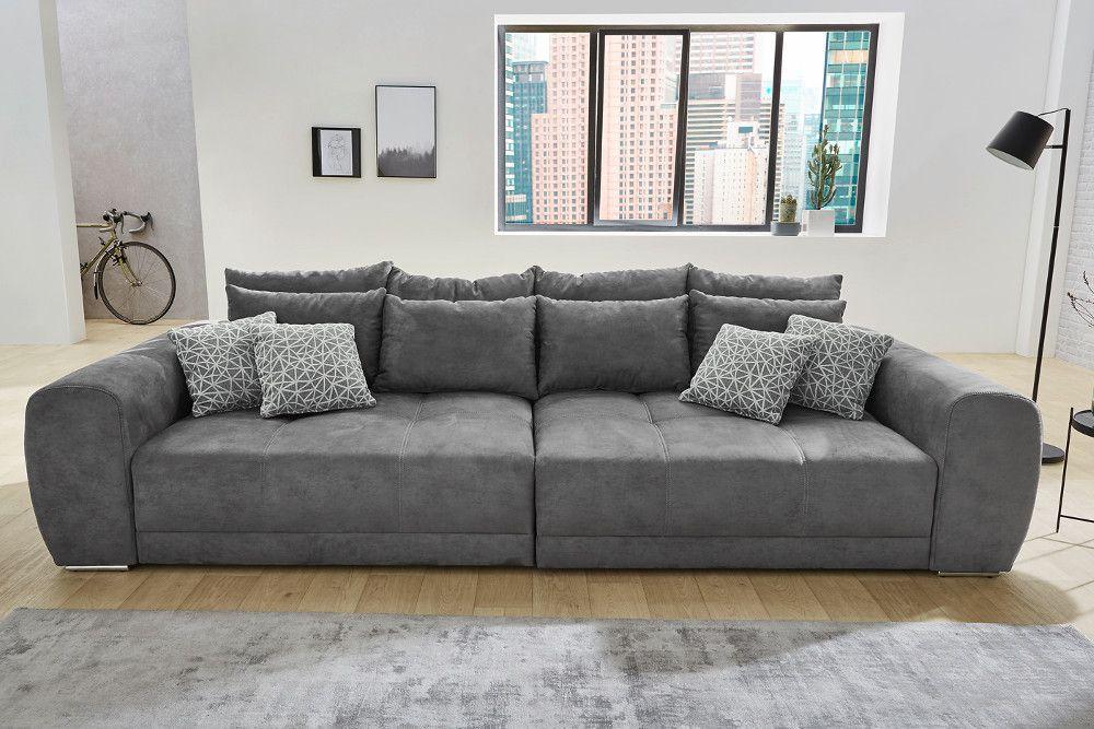 Aussergewohnliches Xxl Sofa Giant Lounge Dunkelgrau Inkl Kissen Xxl Sofa Xxl Couch Bequeme Sofas