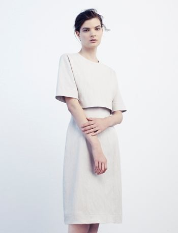 Dress with cropped layer by cos Buy it here: http://www.cosstores.com/Archive/Dress_with_cropped_layer/25251-4763461.1#c-6794923