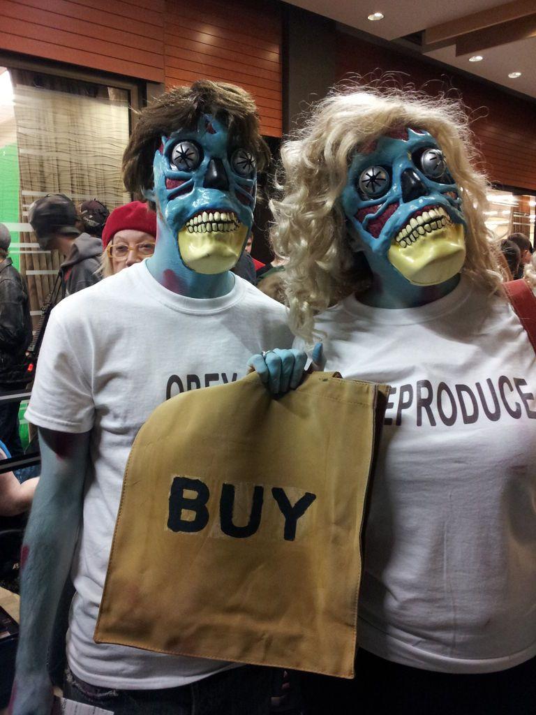 THEY LIVE Alien Costumes Diy alien costume, Couple
