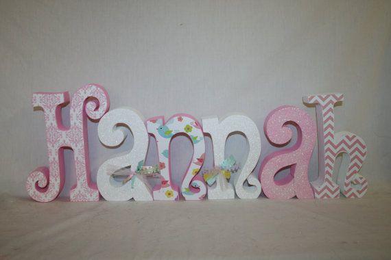 6 Nursery Letters Wooden Letters Custom Wood Por Woodenwondersshop
