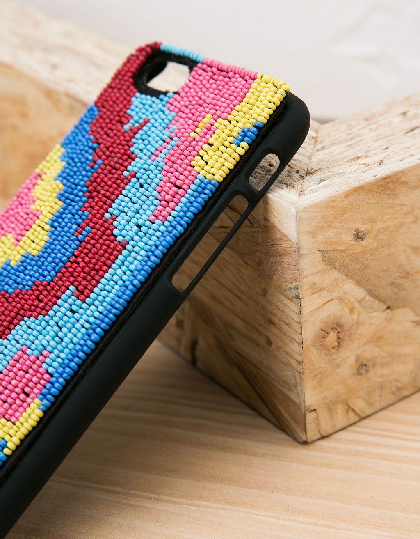 Coque perles multicolores iPhone 6/6s - Accessoires - Bershka ...