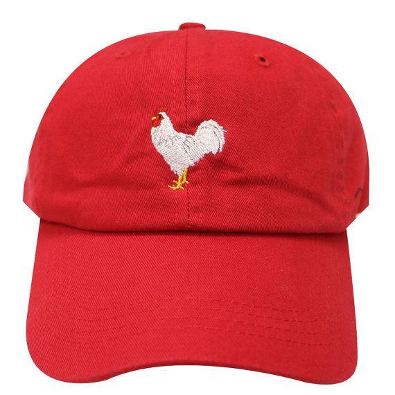 e3915963f80 Capsule Design Chicken Cotton Baseball Dad Cap Red in 2018 ...
