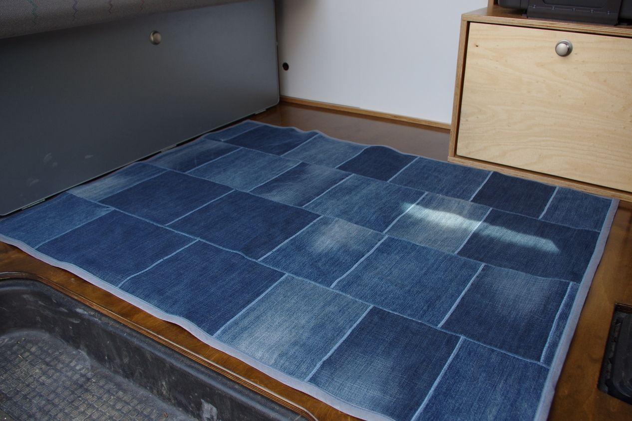 jeans teppich selber machen