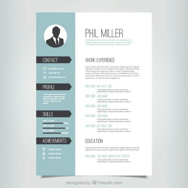Pin by Juan Miguel Horta on CV Pinterest - contemporary resume template free