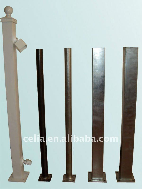 Removable Fence Post powder coated,galvanized,or dacromet) steel post for fence or