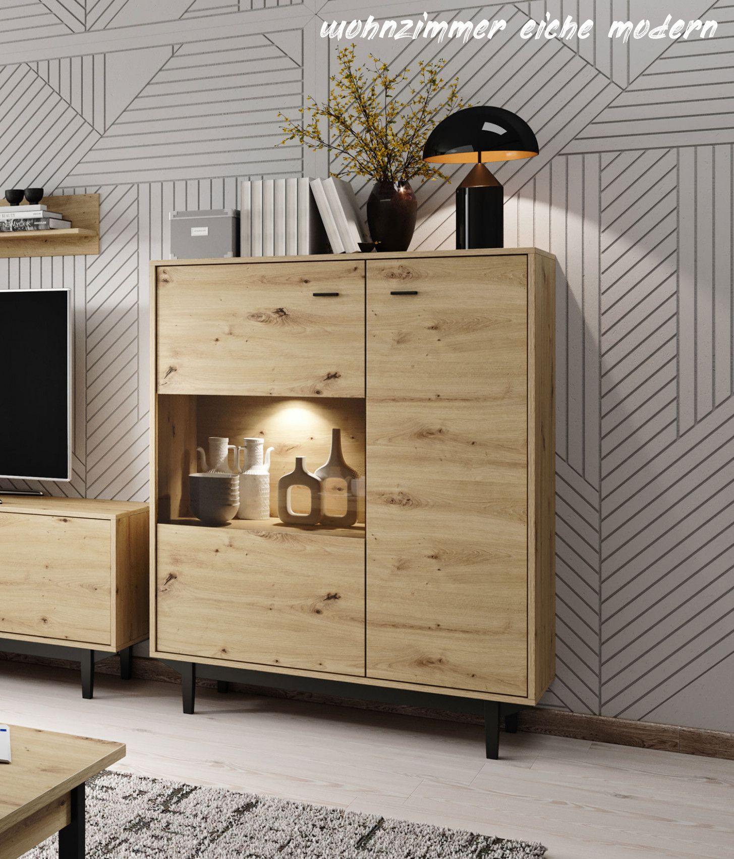 7 Wohnzimmer Eiche Modern In 2020 House Plans Home Room Divider