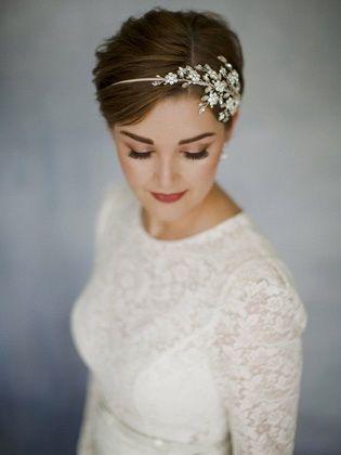 Hermosos peinados para una boda para cabello corto hágalo usted mismo – peinados de cabello corto