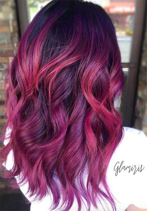 100 Badass Red Hair Colors Auburn Cherry Copper And Burgundy Hair Shades Magenta Hair Colors Magenta Hair Hair Styles