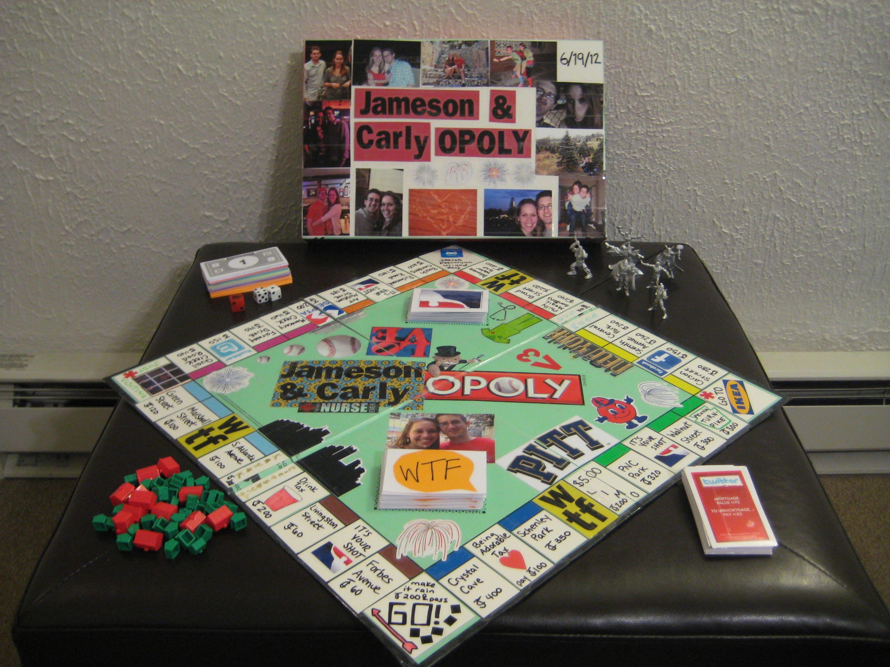 DIY anniversary monopoly ( Diy anniversary, Anniversary