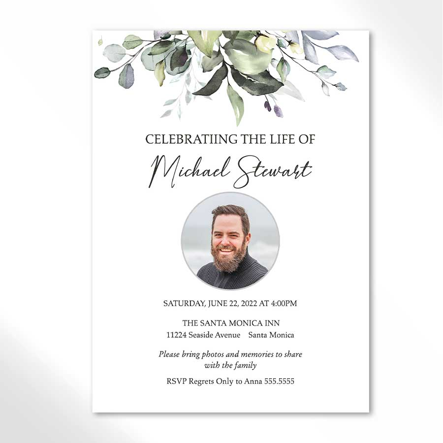 Celebration Of Life Invitations Funeral Invitation Invitation Template Invitations