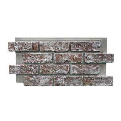 Genstone Chicago Brick 22 5 In X 11 75 In Brick Veneer Siding Half Panel Eacbqp The Home Depot In 2020 Brick Veneer Siding Brick Veneer Brick Paneling