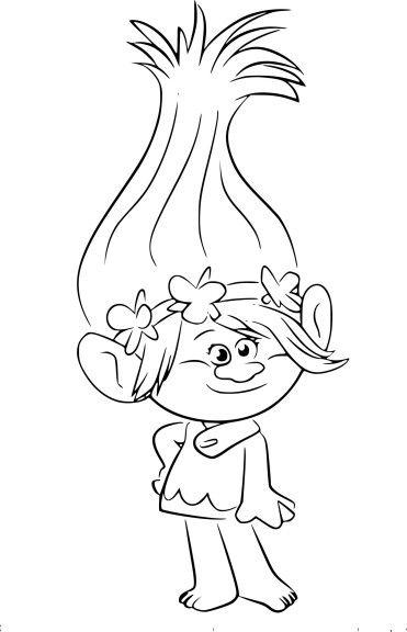 Coloriage Princesse Poppy De Trolls à Imprimer Coloriage Heros