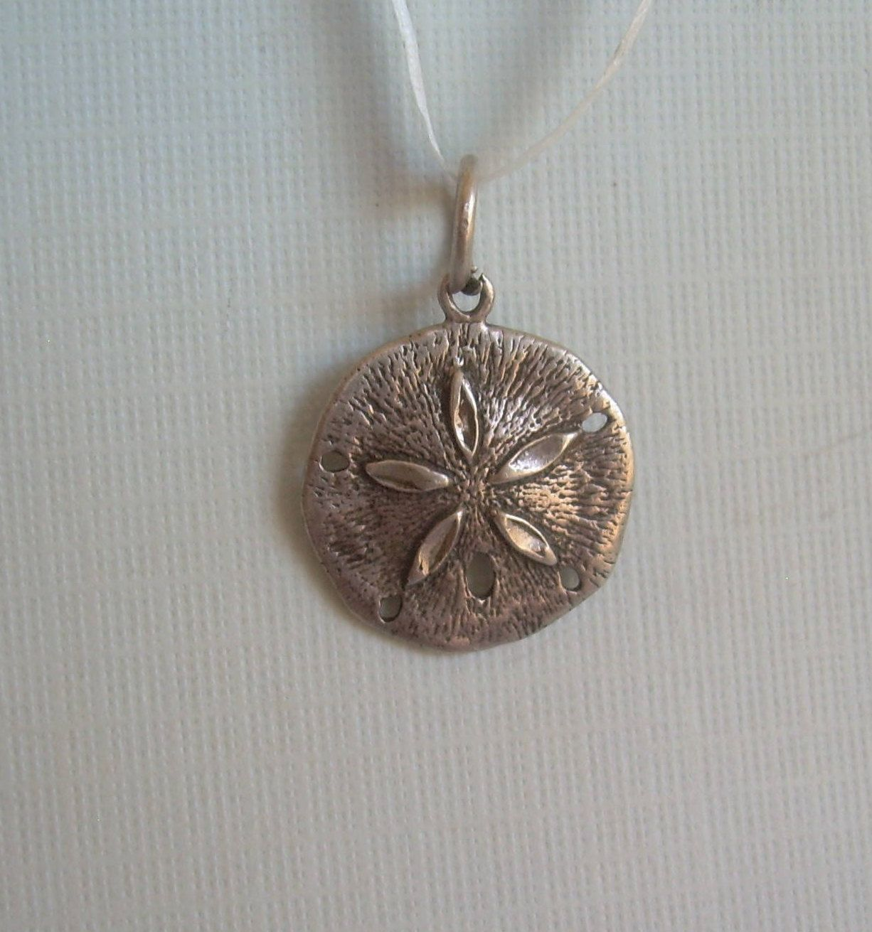 9abe745a1c60 Small Sand Dollar Pendant Charm-Vintage Solid Sterling Silver-9P  Hallmark-Classic Nautical Reef Star Sealife Sea Animal Beach Jewelry-00687  by ...