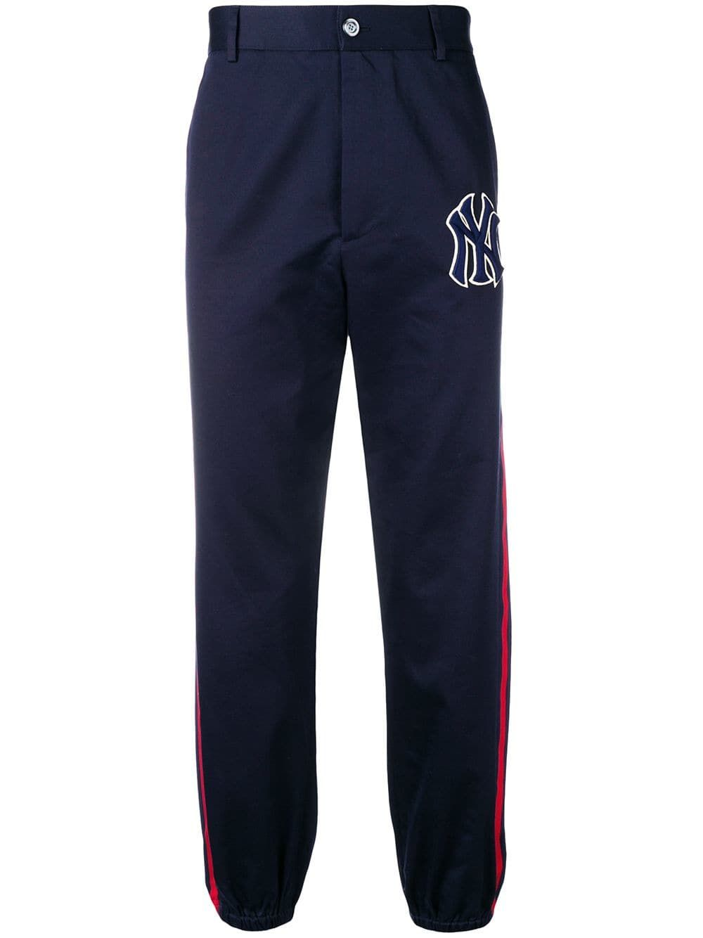 43104babc64d1 GUCCI GUCCI NY YANKEES TAILORED TRACK TROUSERS - BLUE.  gucci  cloth ...