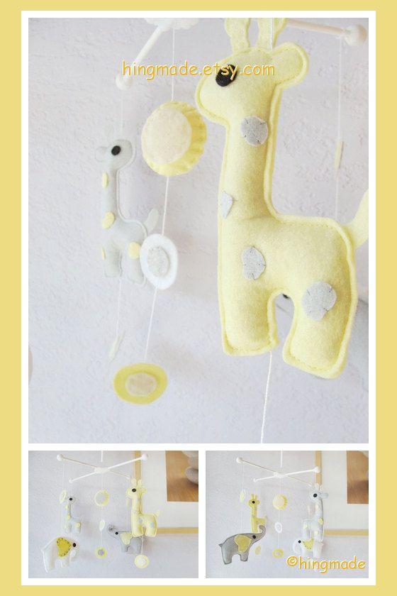 Baby Crib Mobile Elephant Nursery By Hingmade 89 00