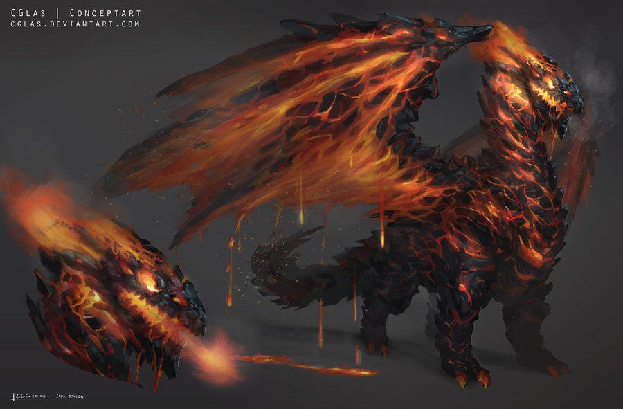 lava dragon by cglas