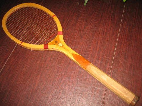 Vintage 1920s Wright Ditson American Ace Tennis Racket Wood Wooden