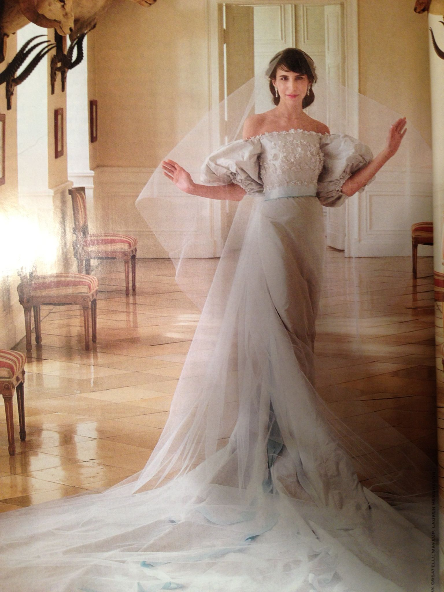 Caroline Sieber In Her Custom Chanel Wedding Gown Inspired By The