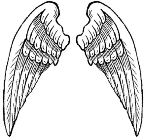 wings coloring pages Heart with Angel Wings Coloring Pages | Ink & Metal | Wings  wings coloring pages
