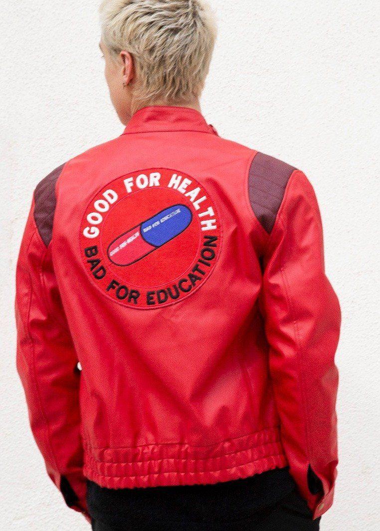 Mens Akira Kaneda Red Leather Motorcycle Jacket Leather Motorcycle Jacket Jackets Leather Jacket [ 1066 x 762 Pixel ]