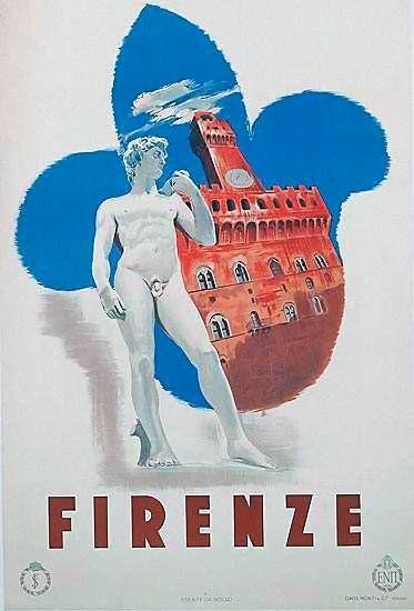 Firenze | Vintage travel poster | #Affiches #Carteles #Viajes #Retro #Europe | http://defharo.com