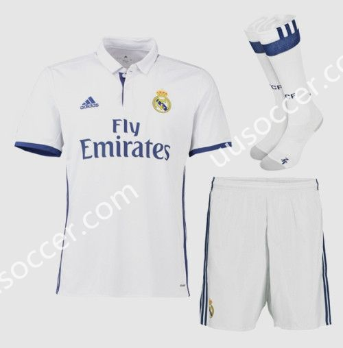 2016-17 Real Madrid Home White Thailand Soccer Uniform With Socks AAA