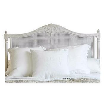 Louis XVI French Country Natural White Painted Cane Headboard ...