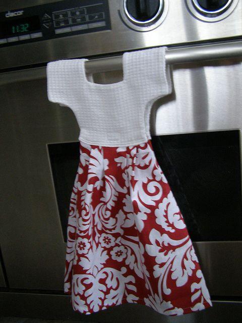 Dish Towel Dress Red White Towel Dress Dish Towels