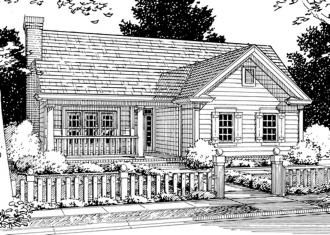 #655785 - 1 story 4 bedroom 2 bath traditional plan : House Plans, Floor Plans, Home Plans, Plan It at HousePlanIt.com