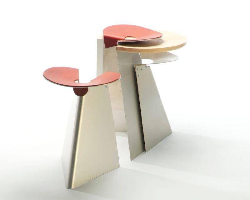 Sgabelli impilabili in alluminio from wood to furniture