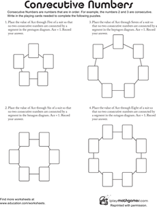 Consecutive numbers number number worksheets and worksheets number mind benders with cards ibookread ePUb