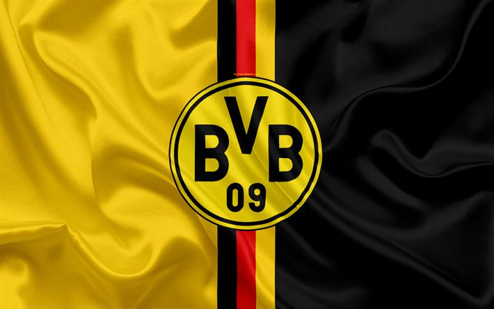 Download Wallpapers Borussia Dortmund German Football League Germany Football Clubs Bvb Logo Emblem Football Flag Of Germany Besthqwallpapers Com German Football League Dortmund Borussia Dortmund