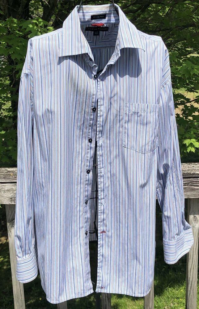 f0b6555d Tommy Hilfiger XL Long Sleeve Shirt 80s 2 Ply Fabric Made In 2003NICE SHIRT  #fashion