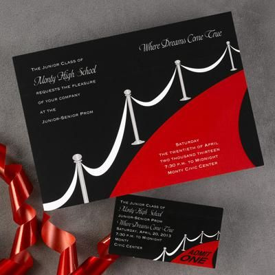 Hollywood themed party invitation – Hollywood Themed Party Invitations