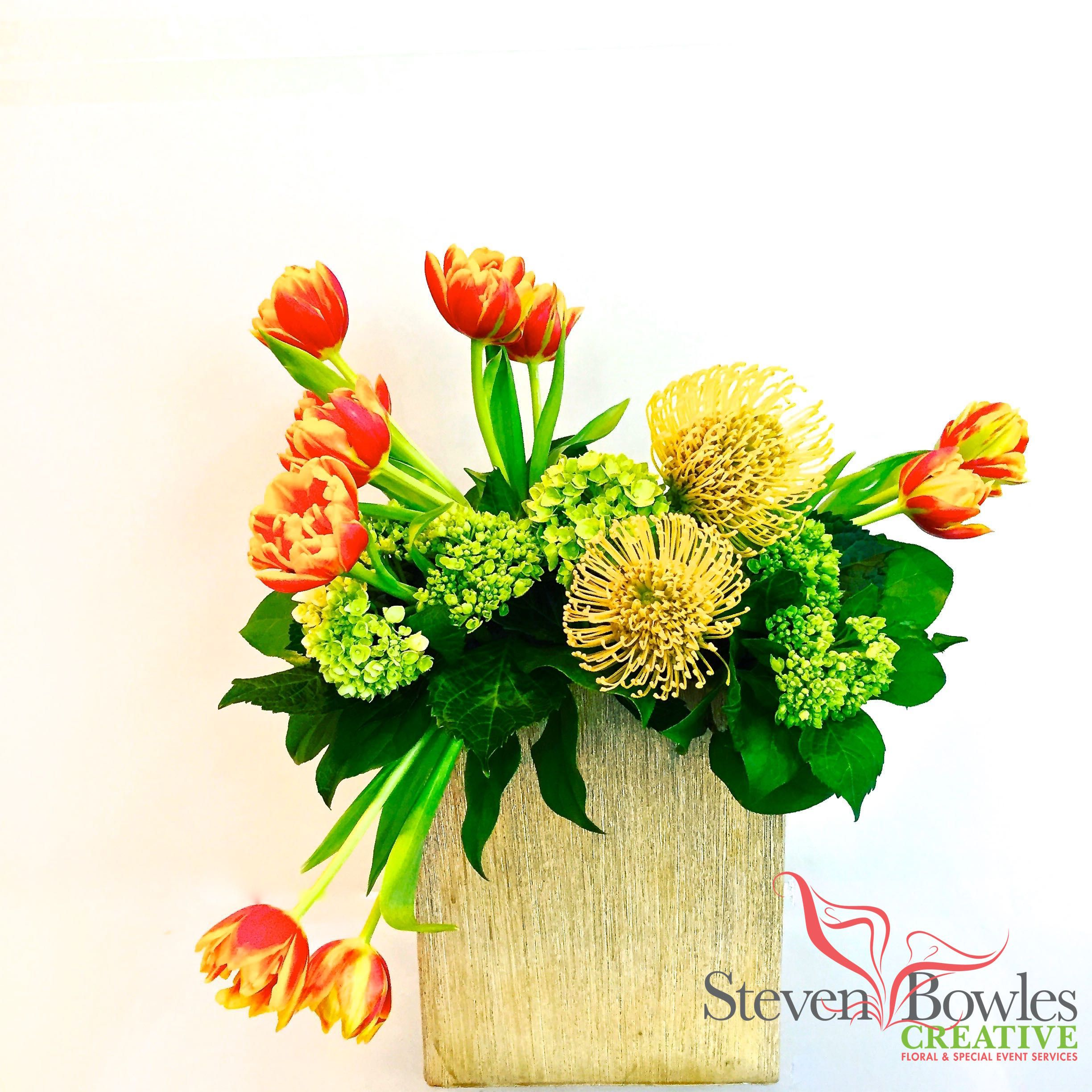 Modern Tulip floral design created by Steven Bowles Creative Event