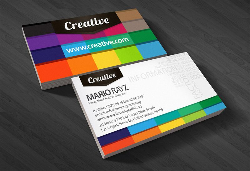 Beautiful examples of colorful business card designs playing with beautiful examples of colorful business card designs playing with colors in style businesscards reheart Gallery