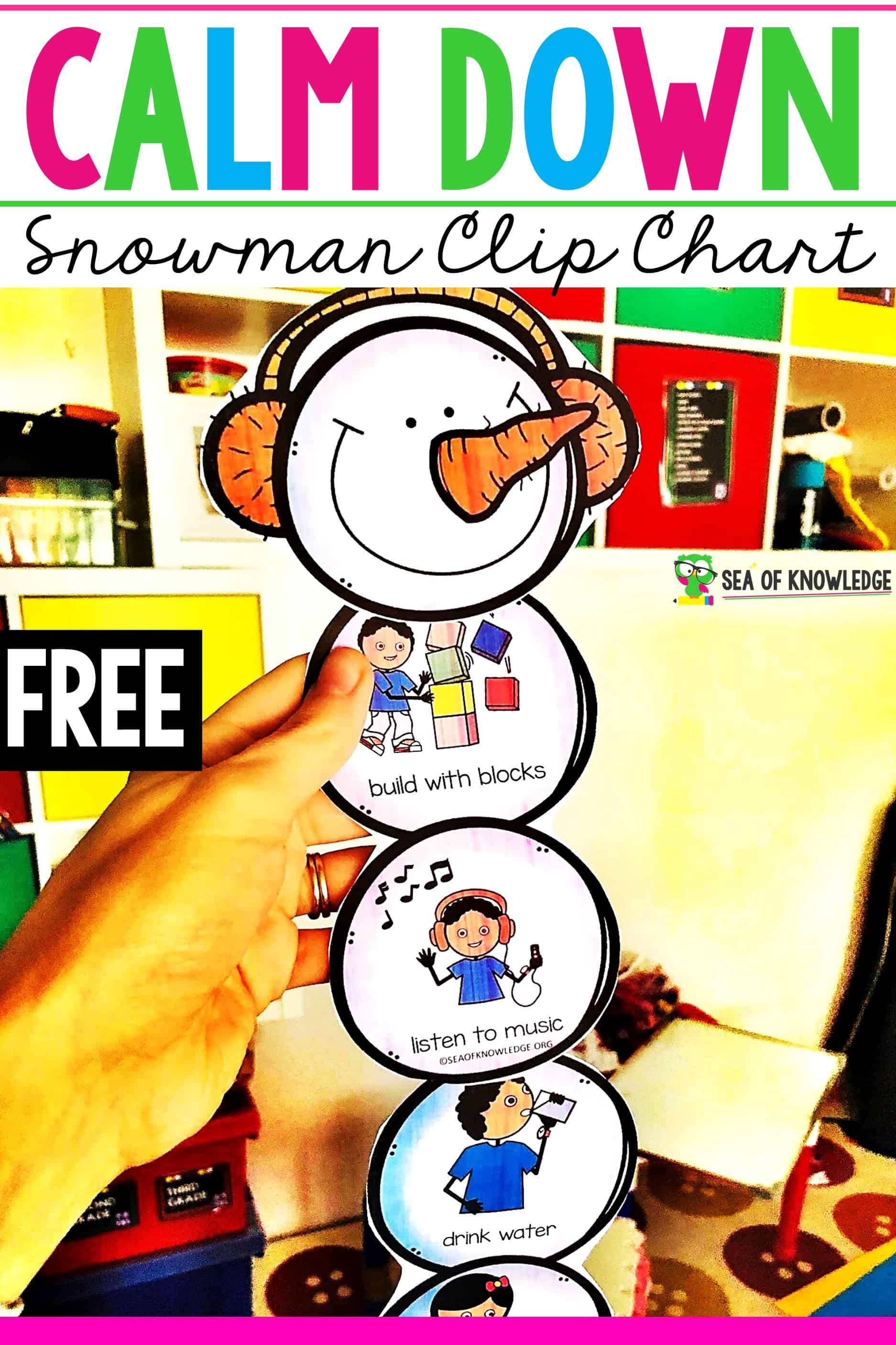 Calm Down Snowman Kit Promote A Way To Help Kids Deal With