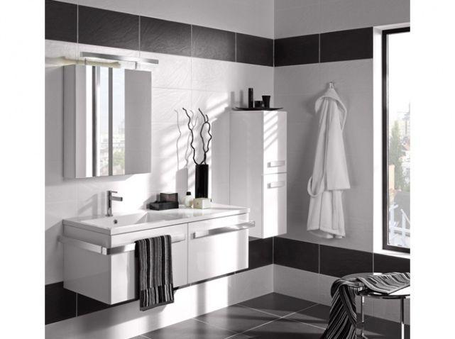 la salle de bains shabille en noir et blanc - Photo Salle De Bain Noir Et Blanc