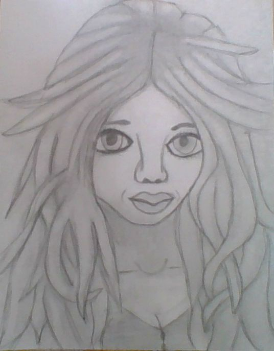 drawing of a person, by me ^_^ <3<3
