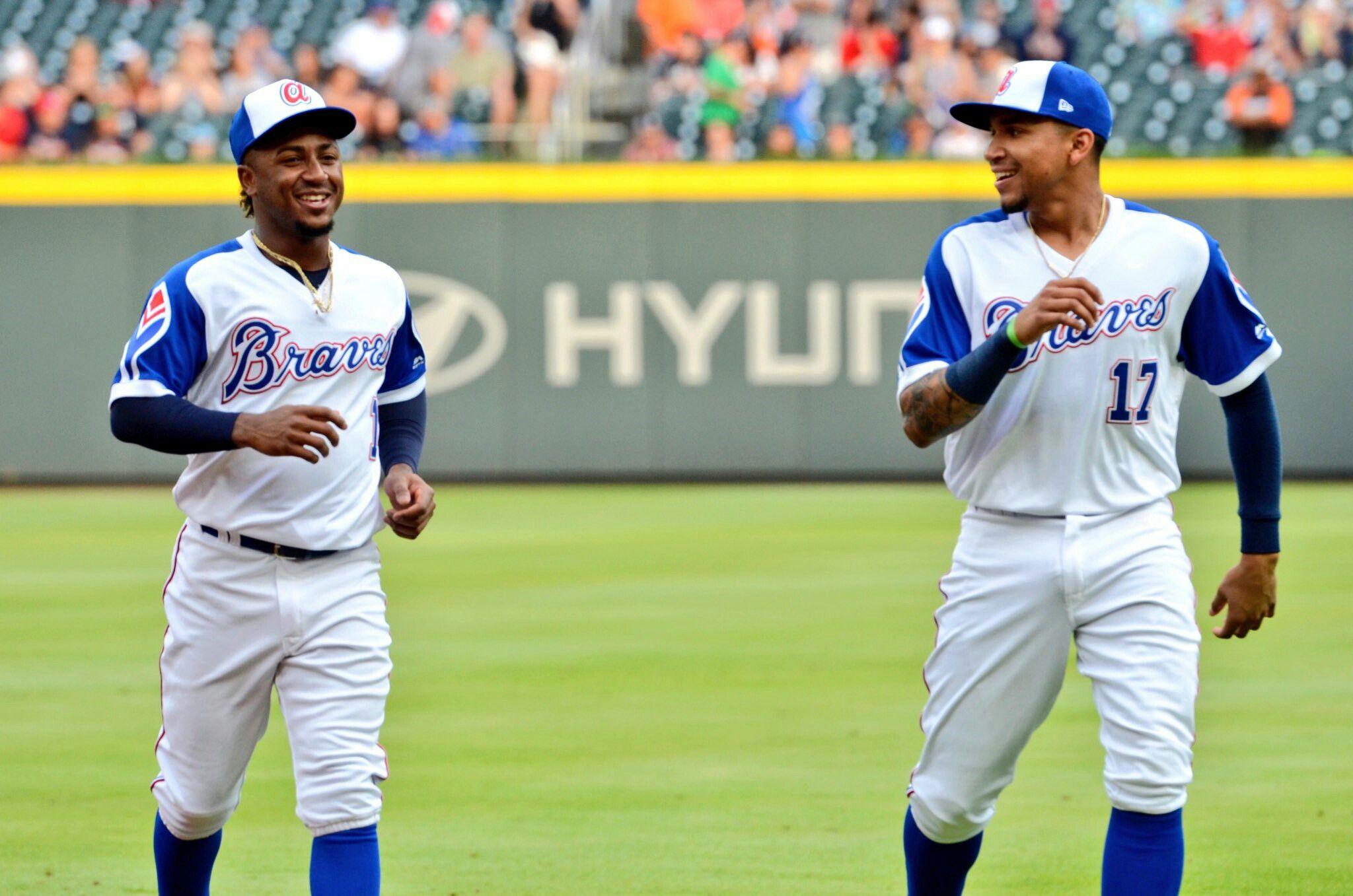 Ozzie Albies And Johan Camargo Braves Baseball Atlanta Braves Sports Jersey